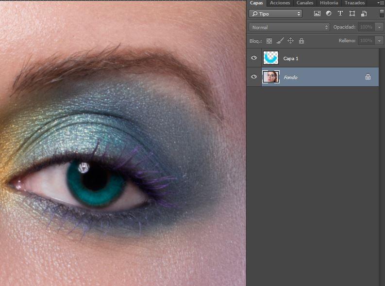 iris encina capa modo color